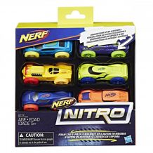 Nerf Nitro- дозаправка, комплект 6 машинок, С3173/С3171