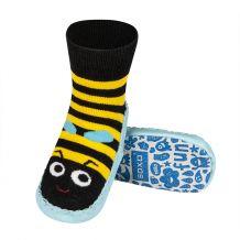 Дитячі шкарпетки з шкіряною підошвою Бджілка, SOXO, 78369c
