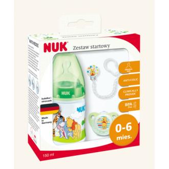 Подарунковий комплект NUK First Choice салатовий Вінні Пух, 0-6 міс, 759996