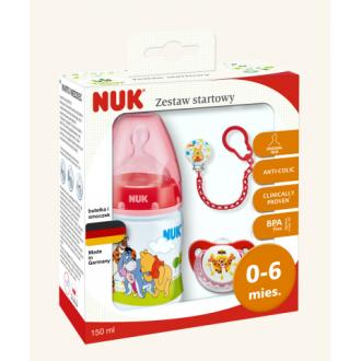 Подарунковий комплект NUK First Choice червоний Вінні Пух, 0-6 міс, 759996