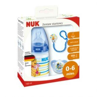 Подарунковий комплект NUK First Choice синій Вінні Пух, 0-6 міс, 759996