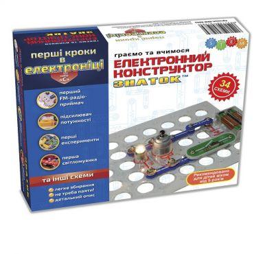 """Конструктор- ЗНАТОК """"Первые шаги в электронике"""" (15 схемы, набор C), REW-K062"""