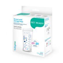 Пакеты для хранения грудного молока с индикатором температуры Natural Nursing, BabyOno, 1099