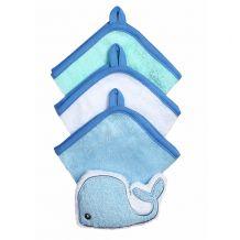 Набор 3 моющих рукавиц с губкой голубой, BabyOno, 149