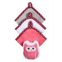 Набор 3 моющих рукавиц с губкой розовый, BabyOno, 149