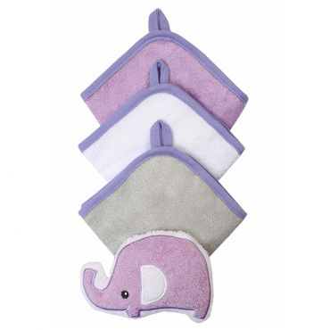 Набор 3 моющих рукавиц с губкой фиолетовый, BabyOno, 149
