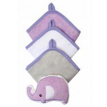 Набір 3 миючих рукавиць з губкою фіолетовий, BabyOno, 149