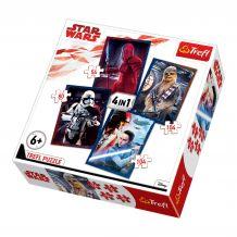 Набір з 4 пазлів Trefl Star Wars 54+104+80+104 ел., 34277