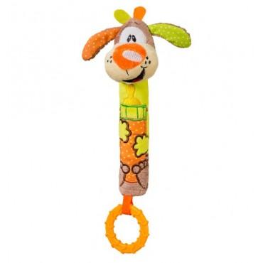 Іграшка-пищалка з прорізувачем цуценя, BabyOno, 1354