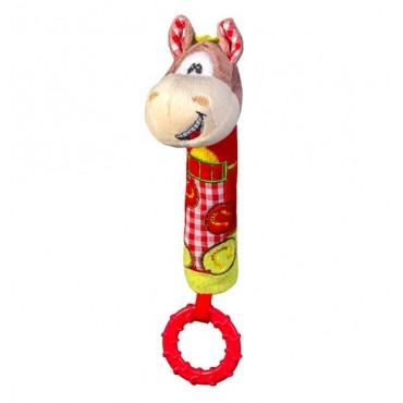 """Іграшка-пищалка з прорізувачем """"Усміхнений поні"""", BabyOno, 1355"""