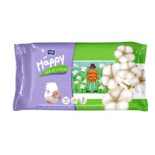 Влажные салфетки Happy Silk & Cotton 64 шт, Bella, 21144