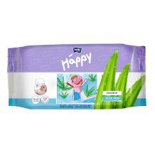 Влажные салфетки Happy Sensetive Aloe Vera 56 шт, Bella, 21151