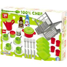 Набор посуды Chef-Cook Ecoiffier (39 аксес.), 2619