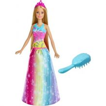 Barbie Dreamtopia Brush 'n Sparkle Princess, Mattel, FBR 12