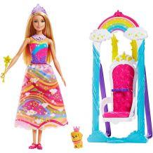 Качели для принцессы Barbie Dreamtopia, Mattel, FGD06
