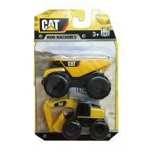 Набір з двох міні-машинок самоскид і екскаватор CAT, Toy State, 34635