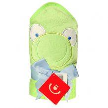 Махровий рушник для купання Жабка, зелений , Bobobaby, PEL-R