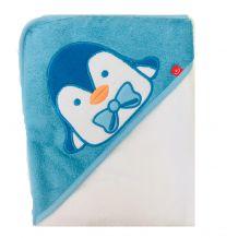 Махровое полотенце для купания голубой, Bobobaby, PEL