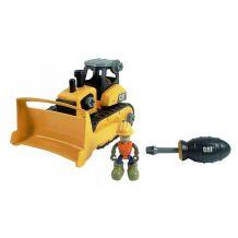 Игрушка-конструктор бульдозер с отверткой CAT, TOY STATE, 80902