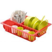 Іграшковий набір посуду з сушилкою, ecoiffier, 0606