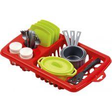 Іграшковий набір посуду з сушилкою 22 предмета, ecoiffier, 0956