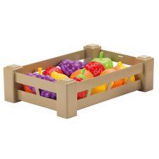 """Игрушечный набор фруктов в ящике """"Урожай"""" 15 предметов, ecoiffier, 0948"""