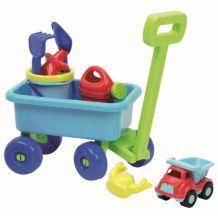 Пляжний набір візочок з іграшками, ecoiffier, 0527