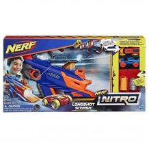 Бластер Nerf Nitro LongShot Smash - Постріли машинкою,HASBRO, С0784