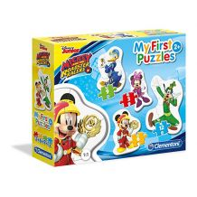 """ПАЗЛ MY FIRST PUZZLES CLEMENTONI """"Mickey and roadster racers"""", 3 + 6 + 9 + 12 ЭЛ., 20807"""