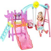 Ігровий набір Barbie Челсі гірка з гойдалкою, Mattel,  DWJ46