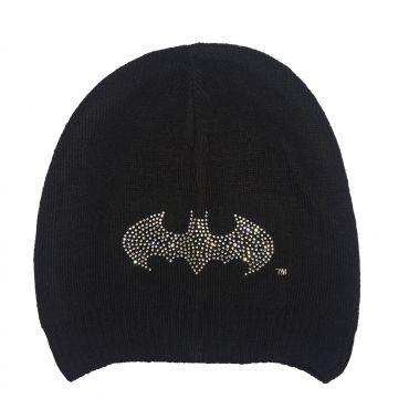 Купити Чорна в язана шапка Бетмен з камінцями eb673a9dee30c
