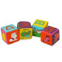 Мягкие учебные кубики BABY MIX, 9284-13