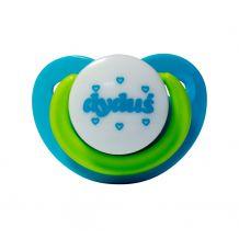 Пустышка силиконовая ортодонтическая успокоительная голубая 3 м +, DYDUS, SG81