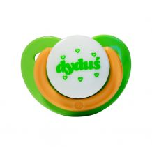 Пустышка силиконовая ортодонтическая успокоительная зеленая 3 м +, DYDUS, SG81