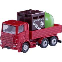Вантажівка зі сміттєвими контейнерами, Siku, 0828