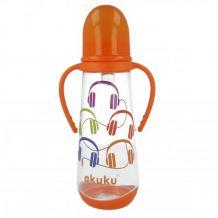 Бутылка для кормления с ручками 250мл akuku 0+, A0009