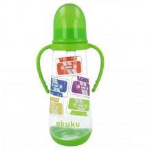 Пляшечка для годування з ручками 250мл akuku 0+, A0009
