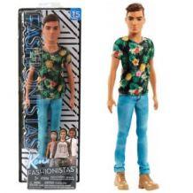 Кукла Barbie Кен Модник в цветной футболке, FJF73