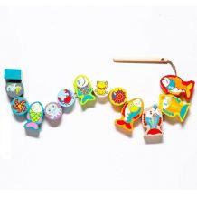 Рибки-силянки - дерев'яна іграшка, Cubika ,13 деталей 13647