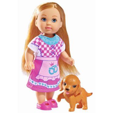 Лялька Еві Child of the World з собачкою, 12см, 5732297