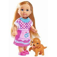 Кукла Эви Child of the World с собачкой, 12см, 5732297