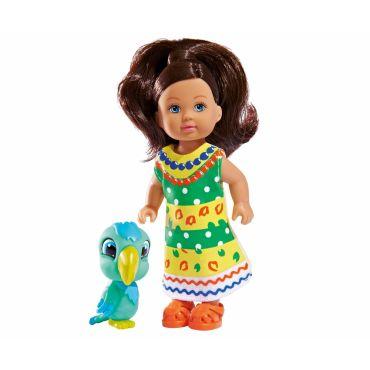 Лялька Еві Child of the World з пандою, 12см, 5732297