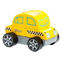 Деревянная машинка Такси LM-6, CUBIKA, 13159