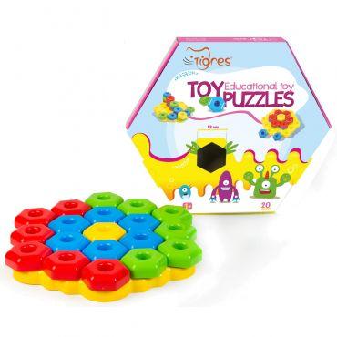 Развивающая игрушка-конструктор Тигрес Снежинка, 39182