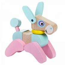 Дерев'яна іграшка Ослик акробат LA-5, Cubika, 12459