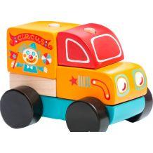 Деревянная машинка Странствующий цирк LM-7, Cubika, 13166