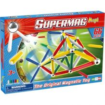 "МАГНІТНИЙ КОНСТРУКТОР 66 ЕЛ. SUPERMAG "" MAGNETIC BUILDING SET"", PLAST WOOD, 0103"