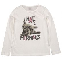 Лонгслів I hate mornings для дівчинки, OVS kids, 9161405