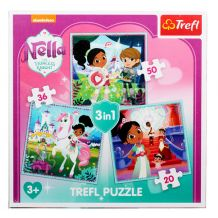 """Набір 3 в 1 """"Нелла принцеса-воїн"""", Trefl, 34835"""