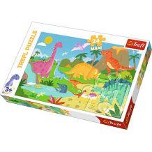 Пазл Trefl Maxi Світ динозаврів, 24ел., 14284